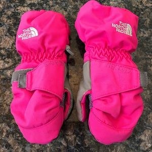 The North Face Toddlers Pink Mittens